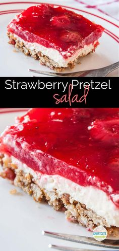 This is a classic sweet and salty dessert recipe! You must try this yummy Strawberry Pretzel Salad Recipe with gluten free option.