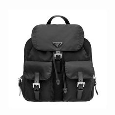 34b92aa4b7be90 Prada BZ2811 Nylon Backpack In Black Black Backpack, Leather Backpack,  Rucksack Bag, Leather