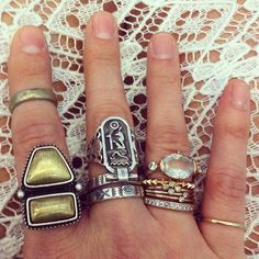 women's fashion and style.  jewelry.  boho rings.