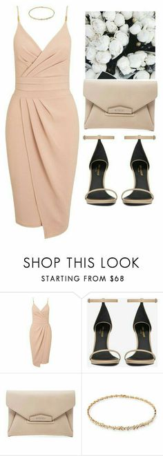 Vestido featuring Miss Selfridge, Yves Saint Laurent, Givenchy and Suzanne Kalan Dressy Outfits, Mode Outfits, Stylish Outfits, Fashion Outfits, Womens Fashion, Fashion Trends, Polyvore Outfits, Elegantes Outfit, Look Fashion