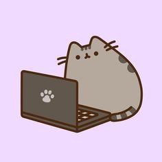 Pusheen the Cat ( Cute Cartoon Drawings, Cute Animal Drawings, Kawaii Drawings, Gato Pusheen, Pusheen Love, Chat Kawaii, Kawaii Cat, Pusheen Stickers, Cute Stickers