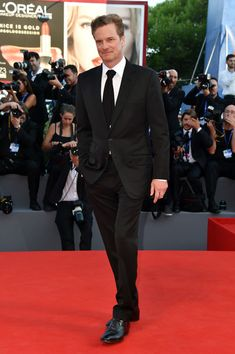 Colin Firth attends the premiere of 'Nocturnal Animals' during the 73rd Venice Film Festival at Sala Grande on September 2, 2016 in Venice, Italy.