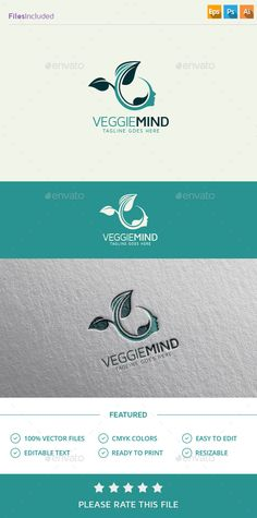 Green Mind Logo Template PSD, Vector EPS, AI. Download here: http://graphicriver.net/item/green-mind-logo/13267036?ref=ksioks