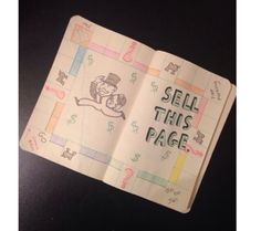 Wreck This Journal: sell this page, Monopoly