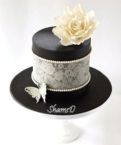 Sugarveil Cake - The lace is edible sugar veil.My first attempt at using this amazing product.