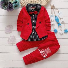 b0bfc1ceee0f Boys'Suits In English Style In Spring And Autumn Period. Button LettersToddler  FashionToddler OutfitsCute ToddlersKids BoysBaby ...