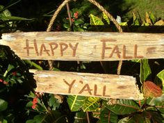 Rustic fall Happy Fall Y'all  Garden signs $22 JuliesWorkshop, by   Sign Fall rustic Sign