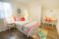 Masters of Flip: Second Bedroom Two Bedroom, Bedroom Colors, Girls Bedroom, Kortney Wilson, Masters Of Flip, Balinese Decor, Ceiling Height, Color Pop, Colour