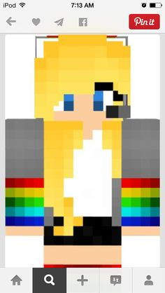 Minecraft rainbow girl