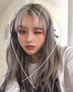 Ulzzang Hair, Ulzzang Korean Girl, Cute Korean Girl, Peach Aesthetic, Aesthetic Hair, Braces Girls, Cute Kawaii Girl, Korean Beauty Girls, Uzzlang Girl