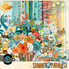 Have you seen the July 2013 Mega: Summer Paradise, a collaboration by the #Digital Scrapbooking Studio designers?  This HUGE kit is JUST $5!!!!!