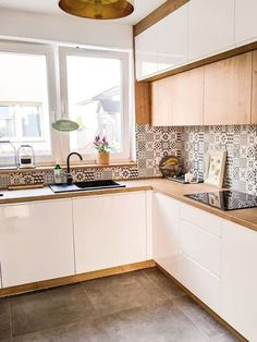 Kitchen Room Design, Kitchen Cabinet Design, Modern Kitchen Design, Kitchen Layout, Home Decor Kitchen, Interior Design Kitchen, Kitchen Furniture, Home Kitchens, Small Modern Kitchens