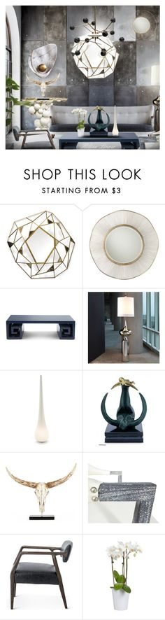 """""""INT.549"""" by helenelenoir ❤ liked on Polyvore featuring interior, interiors, interior design, home, home decor, interior decorating, Palecek, Arteriors, Jonathan Adler and Jagger"""