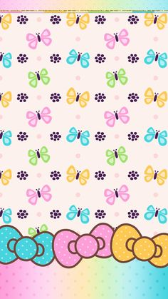 #spring #butterfly #wallpaper #android #iphone #cute #hello_kitty #bow