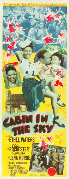 """Movie Posters:Musical, Cabin in the Sky (MGM, 1943). Insert (14"""" X 36"""").. ... Image #1"""