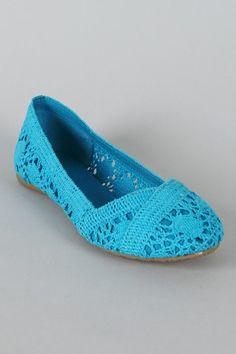 Soda Faddy-S Crochet Ballet Flat