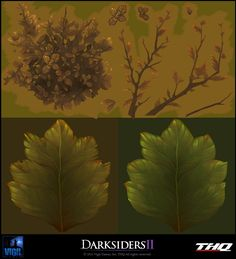 Yan Chan: 3d Artist | Darksiders II Gallery3 Texture Mapping, 3d Texture, Texture Packs, Paint Games, 2d Game Art, Game Textures, Grass Flower, Hand Painted Textures, Coloring Tutorial