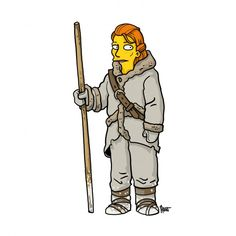 Your Favorite Breaking Bad and Game of Thrones Characters Redrawn as Simpsons   Underwire   Wired.com