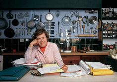 Julia Child's kitchen peg board is genius.