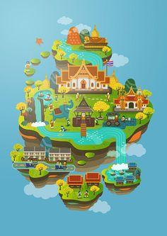 Thailand Illustration on Behance
