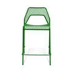 Modern Green Indoor/Outdoor Hot Mesh Counterstool