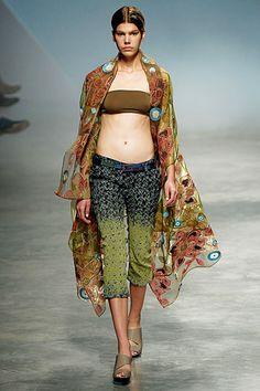 Issey Miyake - beautiful fabric pattern, I had tailor make me similar duster in printed silk chiffon (534 RMB = 89 USD)