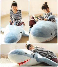 "71""(1.8M) GIANT HUGE SHARK STUFFED ANIMAL PLUSH SOFT TOY PILLOW SOFA CUTE GIFT"
