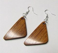 Exotic Wood Earrings Handmade Exotic Mexican by NuevoWoodcrafts, $21.95