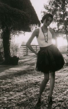 Classic Ballet Tulle Skirt in Black size Small by ouma.