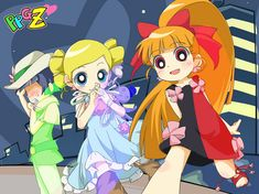 Bubbles is the second member of the Powerpuff Girls Z team. Description from crunchyroll.ca. I searched for this on bing.com/images