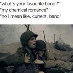 My Chemical Romance - The Ghost Of You // Three Cheers For Sweet Revenge Emo Band Memes, Mcr Memes, Emo Bands, Music Bands, Gerard Way, My Chemical Romance, Music Stuff, My Music, Music Things