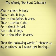 Workout Schedule Finally Joining A Gym  Fitnass
