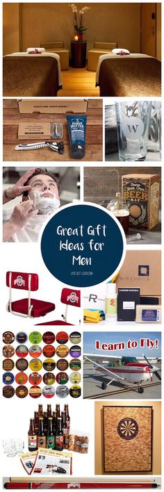 Tons of awesome gift ideas for guys! They're so hard to buy for!