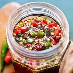Fish Sauce with Chiles- Downright addictive, this spicy fish sauce recipe marries pungent fish sauce with the fire of chiles.