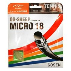 Gosen OG-Sheep Micro Tennis Strings 18g 1.15mm Natural by Gosen. $3.95. The OGSheep Micro 18G tennis strings offer a superior balance of playability and durability