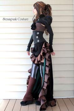 Dark summer outfit by Steampunk Couture