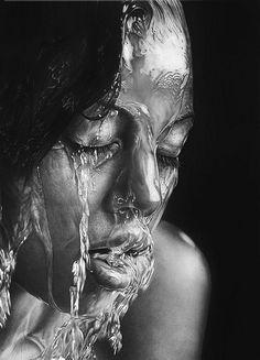 pencil drawing by Russian artist Olga Melamory Larionova. Van Puur naar Cultuur: www.steenakker.nl
