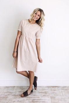 Blush Linen Dress | ROOLEE