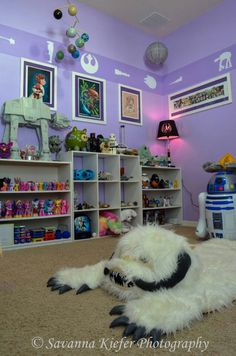 Baby room-here is another shot of the baby's room done in Star Wars for Travis & Jess!  lol