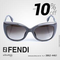 Óculos de Sol Fendi com Até 10% de desconto  Compre pelo site em Até 10x Sem Juros e frete grátis nas compras acima de R$400,00 👉 www.aoculista.com.br/fendi  #aoculista #fendi #glasses #sunglasses #eyeglasses #oculos