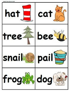 ... Rhyming Words on Pinterest | Bob Books, Word Families and Rhyming