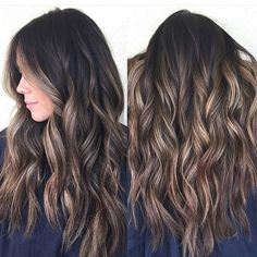 74 Hottest Balayage Hair Color Ideas for Brunettes