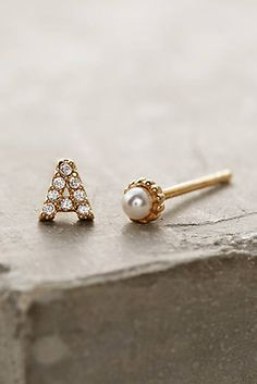 Monogram & Pearl Earrings