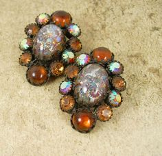 VIntage GORGEOUS Earrings  WEISS dragons breath by vintagesparkles, $65.00