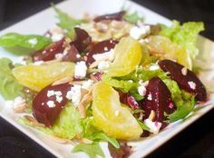 Roasted Beet Salad with Oranges, Almonds and GoatCheese - Circle B Kitchen - Circle B Kitchen