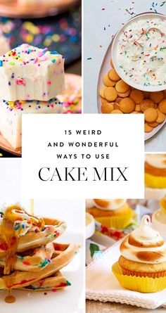15 Weird but Wonderful Ways to Use Cake Mix via @PureWow