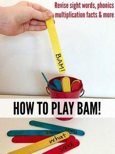 Learning Games for Kids: BAM! for Sight Words, Multiplication & More