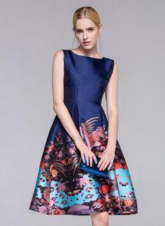 Polyester Others Sleeveless Knee-Length Vintage Dresses (1015015) @ floryday.com