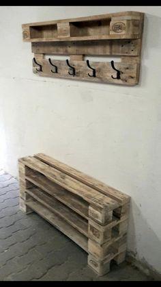 45 DIY Project Garage Storage And Organization Use A Pallet Diy Pallet Projects DIY Garage Organization Pallet Project Storage Diy Projects Garage, Wooden Pallet Projects, Pallet Crafts, Diy Pallet Furniture, Wooden Pallets, Home Projects, Wood Crafts, Woodworking Projects, Palette Furniture