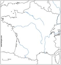 Blank Map of Europe with Rivers